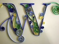Crafts - Quilling-Letters/Words/Numbers