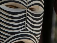 A collection of masks from around the world