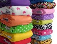 Here is a collection of modern cloth diapers.