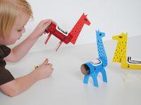 Actividades niños con rollos de papel