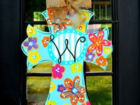 painted wooden crosses