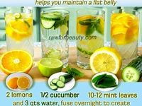 Flat belly water and food