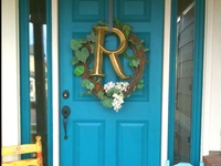 Going to paint the front door teal this spring/summer!