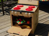 All things made from Cardboard. Everyone knows kids love to play with the boxes that toys come in. There are some really imaginative things you can do with a simple cardboard box.