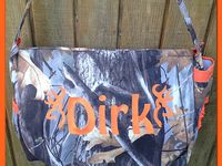 Custom Diaper Bags made by  Stitch-A-Bility by Angela. Camo, zebra print & more. Find me on Facebook.