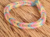 Different types of rainbow loom, bracelets,  charms and other stuff.