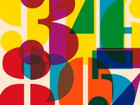 Found numbers, numbers used in graphics, numbers used in art—they are all my inspiration.