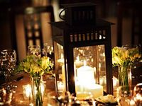 Lanterns, fairylights and candles