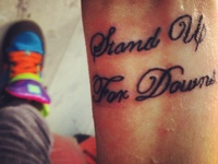 Down Syndrome tattoo