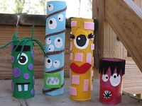 ArtEd- Recycle TP rolls