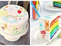 everything rainbow birthday party / art birthday party