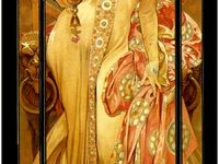 #jugendstil, #belle Epoque, #art nouveau, #alphons mucha
