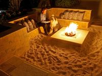 Welcome to Dream Yard's pinterest board of fire pit pictures. If you are adding an outdoor firepit to your yard, this is a good place to start. Don't forget to check on the local building codes for your area before you get your heart set on having a back yard fire pit. Thanks for visiting us and hopefully you can check out some of our other boards.