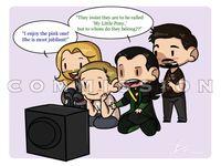 Loki/Tom Hiddleston/the Avengers/Marvel