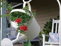 If you want to see my entire board, simply click on the #of pins I have, and all of them will come up..............enjoy seeing wonderful ways of decorating your gardens.