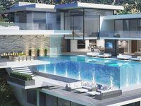 Sunning luxury pools