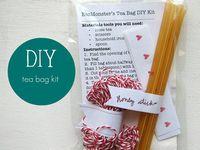 DIY Tea Gift Ideas. DIY tea bag holders, and tea gifts.