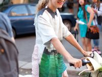 What's old is new again, the bicycle returns street style. Here are some of my favorite looks spotted on the streets riding bicycles fashion week style.