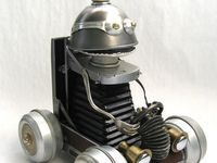 Robots n recycled sculpture