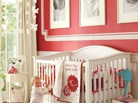 Some cute ideas for a little girl's room. Pinks mostly.