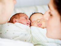 Twin newborn shoots