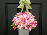 Spring wreaths and decorations