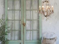 Using old chairs, doors, shutters, & windows