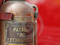 Fire extinguishers, Hydrants and other vintage suppressants.