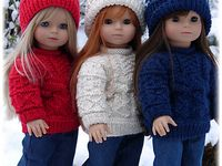 Knit and Crochet pieces to fit the American Girl