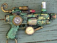 A Steam punk weapons