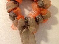 Burlap Camo Wreath