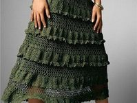 Knitted and crocheted skirts