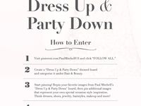#DressUpPartyDown #contest #giveaway #paulmitchell