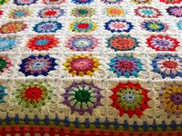 crochet afghans, blankets, and the odd pillow as inspiration and colourful love