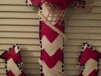Summer burlap wreaths