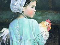 Nancy Noel is an amazing artist and is famous for her  angel, Amish and animal paintings.  I love all of her work, but especially the Amish/animal paintings.