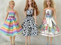 Barbie and Monster High clothes