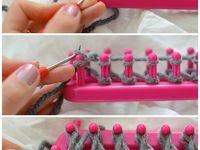 Creahandig -loom knitting