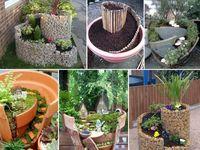 mini jardines, fuentes indoors, y mas fantasías creativas