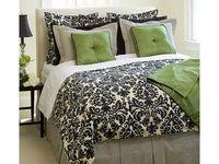 Green & brown bedroom