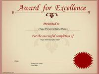 leader award certificate template .