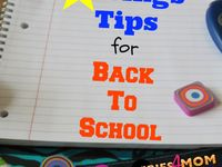 Back to School Tips and Recipes