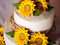 A variety of sunflower wedding, shower, party, and other special event ideas. #sunflower #wedding #shower #party