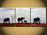 Silhouette paintings