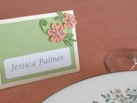 Lugares de mesa, menús, caballetes, números de mesa, mesa de dulces, mesa de postres, mesa de recepción,