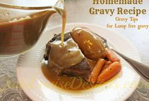 Recipes: Gravy & Sauces / by Billie Hillier