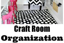 Craft Room Ideas // Organization / Ideas for organizing and decorating my craft and stamping room / by Patty Bennett