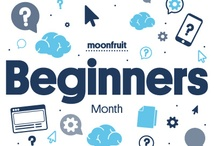 Beginners / 'Beginners' is our Group of the Month for June and we'll be giving you heaps of useful info, tips and tricks to get your Moonfruit site started.  / by Moonfruit