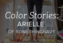 Color Stories: Arielle of SomethingNavy / Arielle is the fashion-savvy, effortlessly chic blogger behind SomethingNavy. She's a NYC girl with an eye for style. See Arielle's Color Story Collections at www.gemvara.com/ColorStories-Arielle / by Gemvara.com