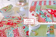 Placemat & runners & tabelcloth / by ricki goldman